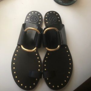 Tory Burch Ravello Stutted black Sandals